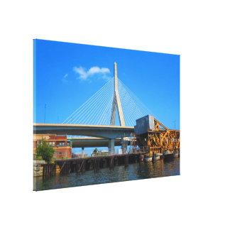 "36"" x 24"" Wrapped Canvas Bridge Boston USA America"