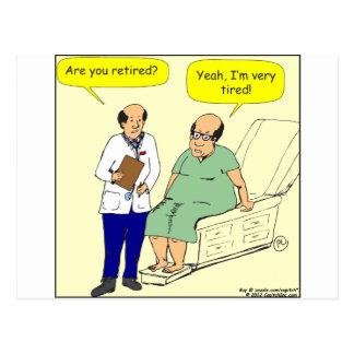 376 Retired-Tired cartoon Postcard