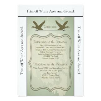 3.5x6 Directions Card Duck Hunting Rustic 13 Cm X 18 Cm Invitation Card