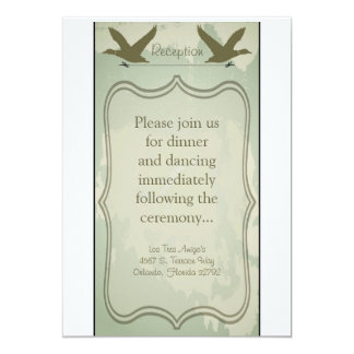 3.5x7 Reception Card Country Duck Hunting Rustic 13 Cm X 18 Cm Invitation Card