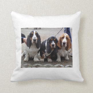 3 Basset_hound_puppies.png Throw Pillow