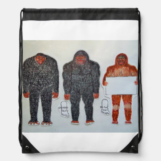 3 bigfoot H, A, S, text, Drawstring Bag
