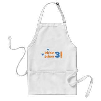 3 birthday apron