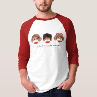 3 cheeky little monkeys Logo Raglan Shirts