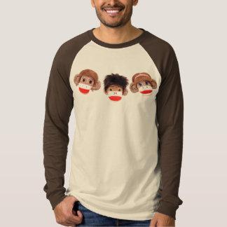 3 cheeky little monkeys trio 2 T-Shirt