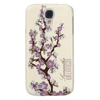 3 Cherry Blossom (purple) Galaxy S4 Case