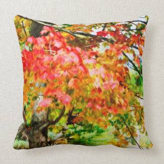 3 colors of the nature 3 throw pillow