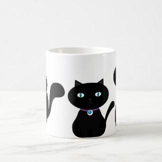 3 CUTE BLACK CATS in all sizes Basic White Mug
