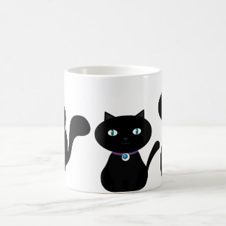 3 CUTE BLACK CATS in all sizes Coffee Mugs