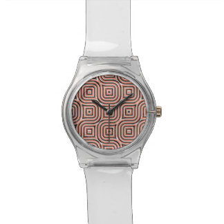 3-D pattern in orange and black Watch