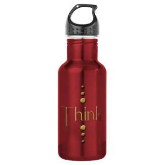 3 Dot Gold Block Think & Burgundy Background 532 Ml Water Bottle