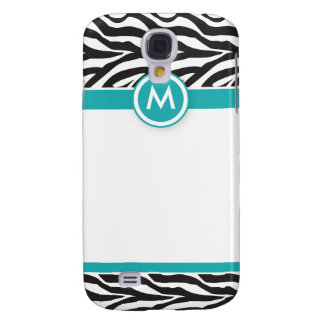 3 Funky Zebra Aqua/Black Galaxy S4 Case