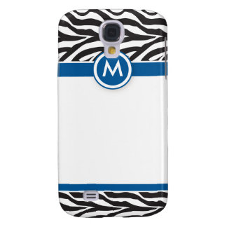 3 Funky Zebra Blue/Black Galaxy S4 Case