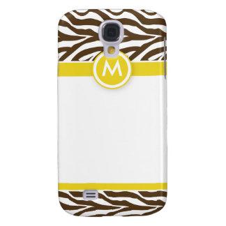 3 Funky Zebra Lemon/Chocolate Galaxy S4 Case