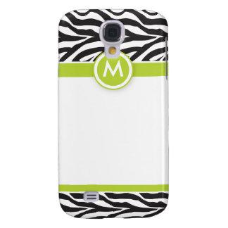 3 Funky Zebra Lime/Black Galaxy S4 Case