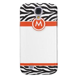3 Funky Zebra Orange/Black Galaxy S4 Case