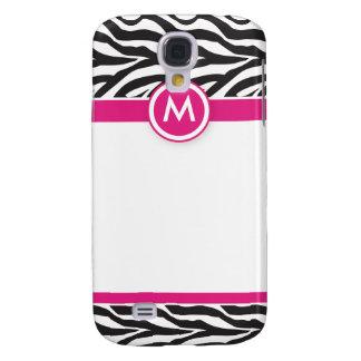 3 Funky Zebra Pink/Black Galaxy S4 Case