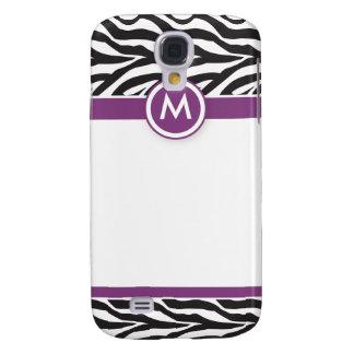 3 Funky Zebra Purple/Black Galaxy S4 Case
