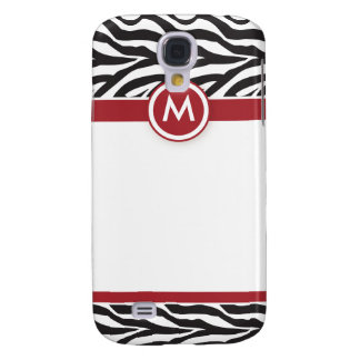 3 Funky Zebra Red/Black Galaxy S4 Case