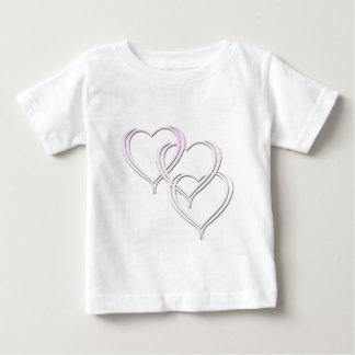 3-Hearts-(White) Tee Shirt