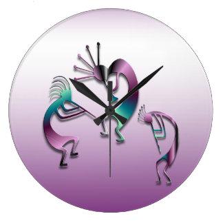 3 Kokopelli 107 Large Clock