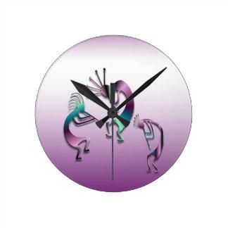 3 Kokopelli 107 Round Clock
