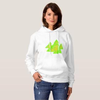 3 little trees abstract design for winter hoodie