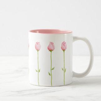 3 Pink Rosebuds Mug