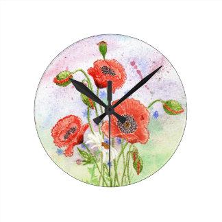 '3 Poppies' Clock
