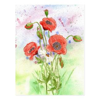 3 Poppies Postcard