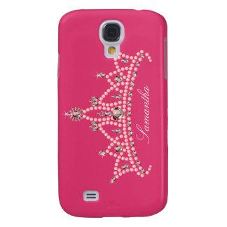 3 Rhinestone Tiara Custom (fuchsia) Galaxy S4 Case