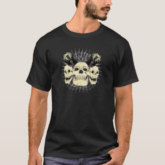 3 Rock n Roll Skulls T-Shirt