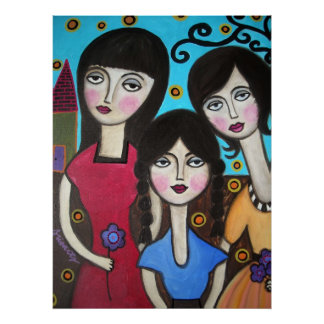 3 SISTERS BY PRISARTS POSTER