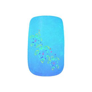 3 Tie Dyed Honu Turtles Minx Nail Art