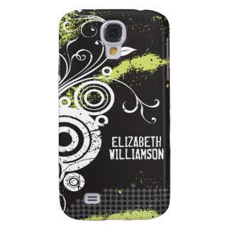3 Velvet Grunge Flourish (white) Galaxy S4 Case