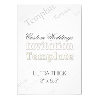 "3"" x 5.5"" Ultra Thick Custom Wedding Invitation"