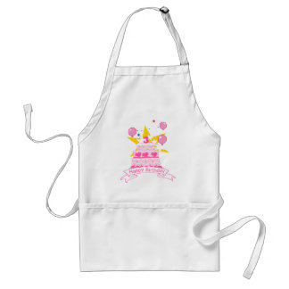 3 Year Old Birthday Cake Adult Apron