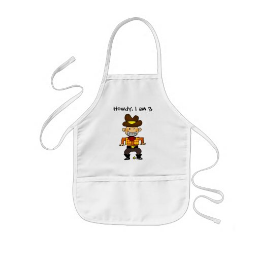 3 year old cowboy aprons