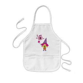 3 year old wizard girl kids' apron
