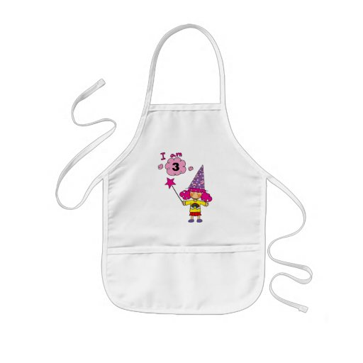 3 year old wizard girl apron