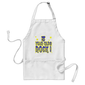 3 Year Olds Rock! (Blue) Apron