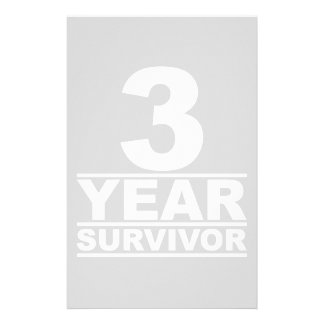 3 year survivor stationery