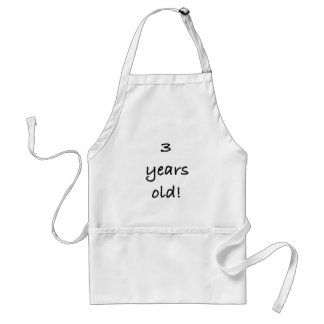 3 years adult apron