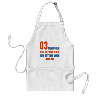 3 years old, not getting bald standard apron