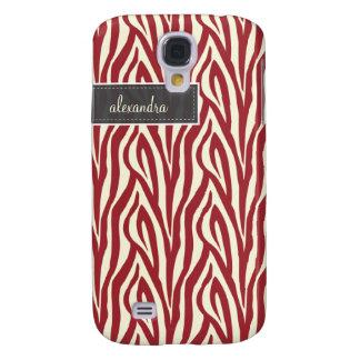 3 Zebra Pern (red) Galaxy S4 Case