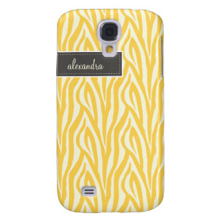 3 Zebra Pern (yellow) Galaxy S4 Case