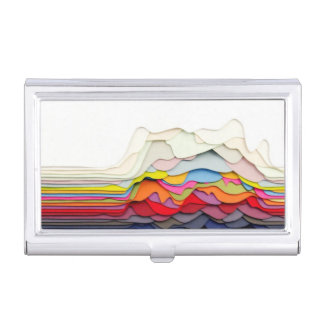 3D Abstract Design Business Card Holders