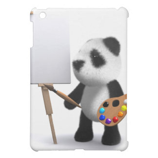 3d Baby Panda Artist iPad Mini Cover