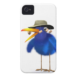 3d Blue Bird Australian iPhone 4 Case