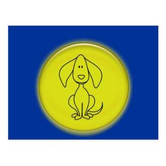 3D Cute Cartoon Doggy Post Cards